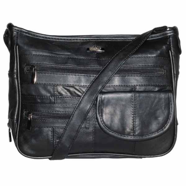 Soft Leather Lorenz Shoulder Bag with Organizer