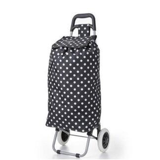 Polka Dot Wheeled Shopping Trolley From The Hoppa Range 47L Volume