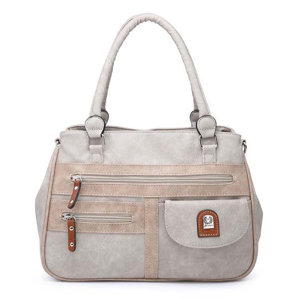 A Triple Compartment Shoulder Bag