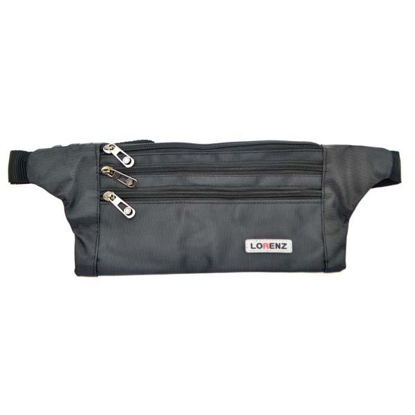 Sleek, Slim Lorenz Unisex Lightweight, Nylon Bumbag