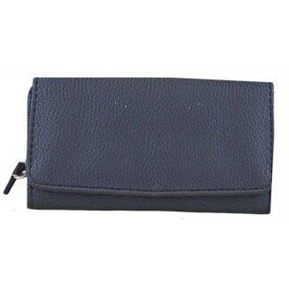 Tri-Fold Classic Faux Leather Purse